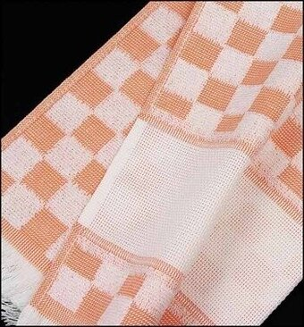 Verona Kitchen Towel - Orange/White Checked