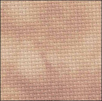 14 Count Pecan Aida Fabric 35x39