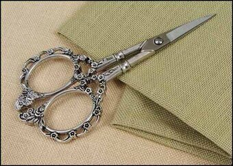 Silver Victorian Embroidery Scissors