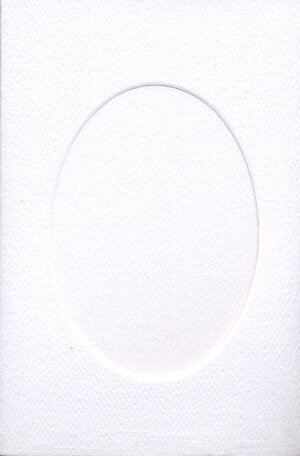 Small White Card - Oval Opening