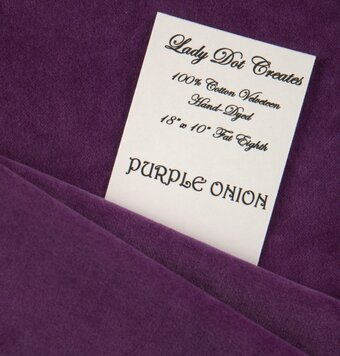 Purple Onion Velveteen Fabric - 18x10