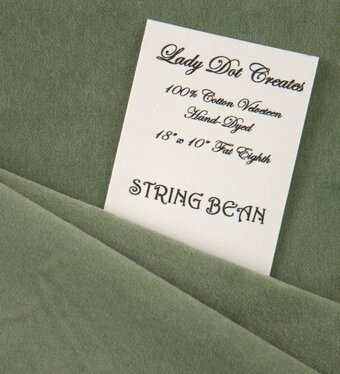 String Bean Velveteen Fabric - 18x10
