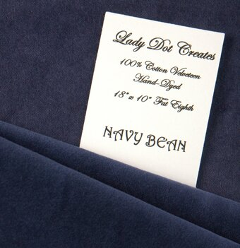 Navy Bean Velveteen Fabric - 18x10