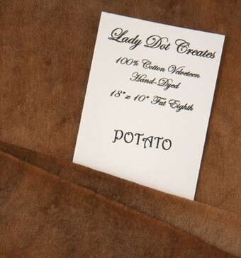 Potato Velveteen Fabric - 18x10