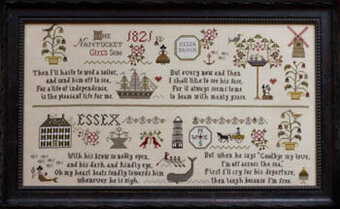 Nantucket Girl's Sampler - Cross Stitch Pattern