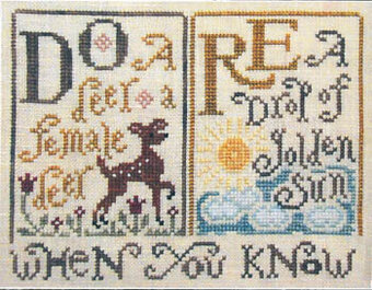 Sing a Sampler 1 - Cross Stitch Pattern