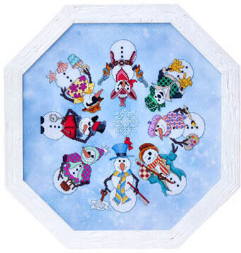 Snowmen A La Round - Cross Stitch Pattern