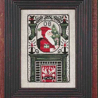 By The Chimney - 2008 Santa - Cross Stitch Pattern