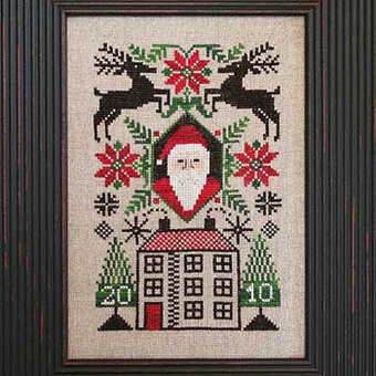 Santa's House - 2010 Santa - Cross Stitch Pattern