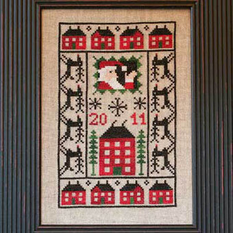 Comin' to Town - 2011 Santa - Cross Stitch Pattern