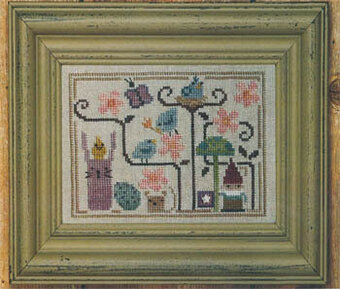 Oodles of Spring (w/button) - Cross Stitch Pattern