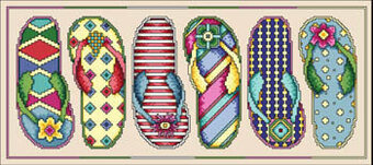 Flip Flop Fun - Cross Stitch Pattern