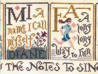 Sing a Sampler 2 - Cross Stitch Pattern