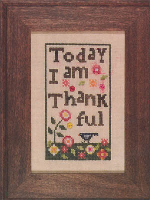 Thankful (with buttons) - Cross Stitch Pattern