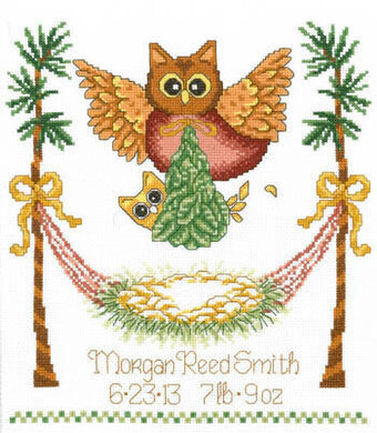 Baby Owl Birth - Cross Stitch Pattern