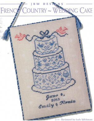 French Country Wedding Cake - Cross Stitch Pattern