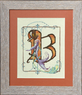 Letters From Mermaids B - Cross Stitch Pattern
