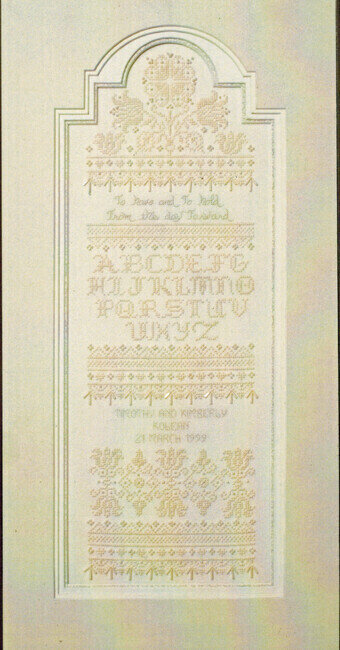 Heirloom Wedding Sampler - Cross Stitch Pattern