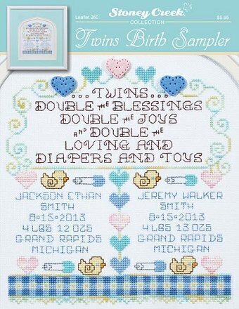 Twins Birth Sampler - Cross Stitch Pattern