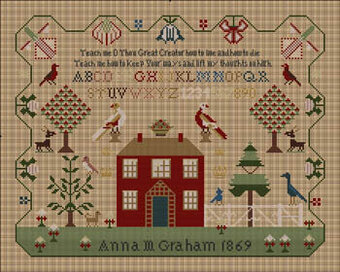 Anna M Teach Me Sampler - Cross Stitch Pattern