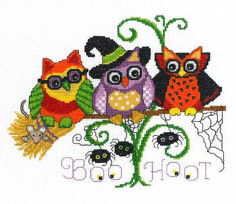 Halloween Hoots - Cross Stitch Pattern