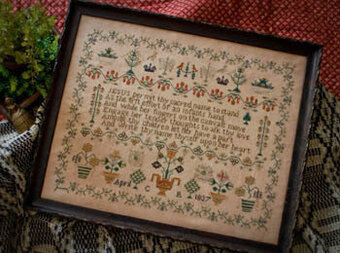 1837 Crown Sampler - Cross Stitch Pattern