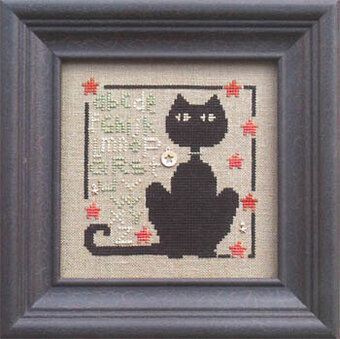 Happy Black Cat Day (w/emb) - Cross Stitch Pattern