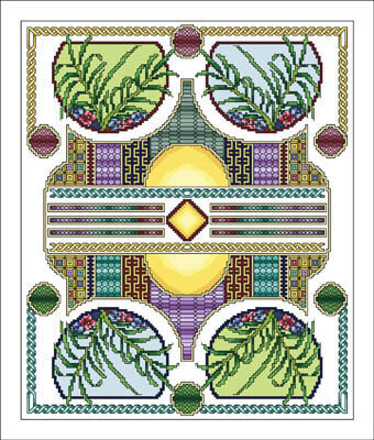 Celtic August - Cross Stitch Pattern
