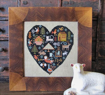 Black Heart - Cross Stitch Pattern