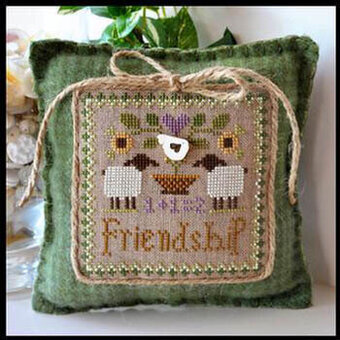 Little Sheep Virtues 9 - Friendship - Cross Stitch Pattern