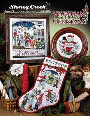 victorian village christmas cross stitch pattern