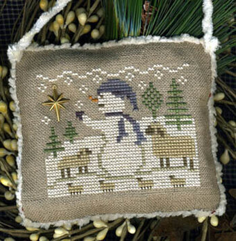Waiting & Watching (Snowman Ornament 2013) - Cross Stitch