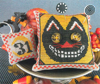 Button Eyed Cat - Cross Stitch Pattern