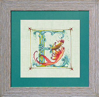 Letters From Mermaids E - Cross Stitch Pattern