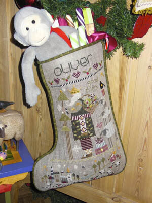 Oliver's Stocking - Cross Stitch Pattern