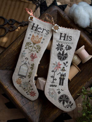 His & Hers Thanksgiving Stocking - Cross Stitch Pattern