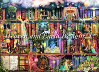 Treasure Hunt Bookshelf - Cross Stitch Pattern