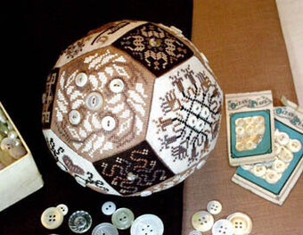 Quaker Button Ball - Cross Stitch Pattern