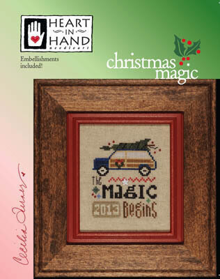 Christmas Magic (with embellishments)- Cross Stitch Pattern