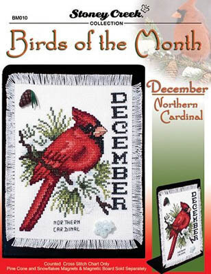 Birds of the Month December - Cross Stitch Pattern