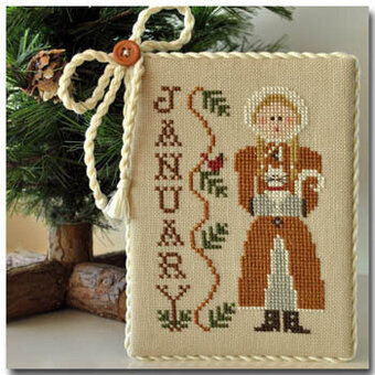 Calendar Girls - January - Cross Stitch Pattern