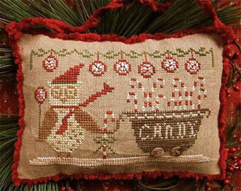 Delivering Peppermints & Candy Canes - Cross Stitch Pattern