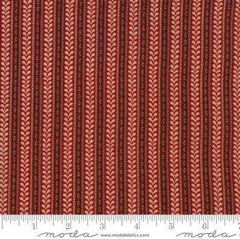 French General La Vie En Rouge Mignonette Red Yardage