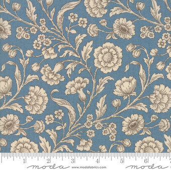 French General Vive La France Woad Light Blue - Fat Quarter