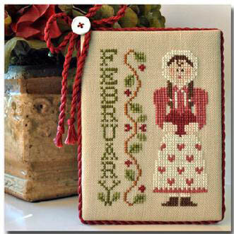 Calendar Girls - February  - Cross Stitch Pattern