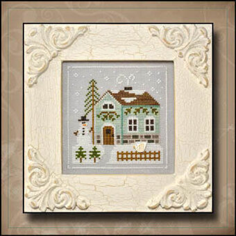 Frosty Forest 3 - Snowman's Cottage - Cross Stitch Pattern