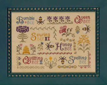 Antique Bee Sampler - Cross Stitch Pattern