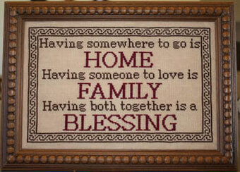 Family Blessing - Cross Stitch Pattern