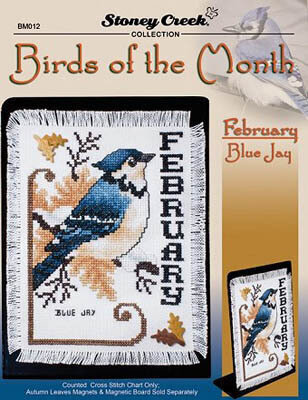 Birds of the Month February (Blue Jay) Cross Stitch Pattern
