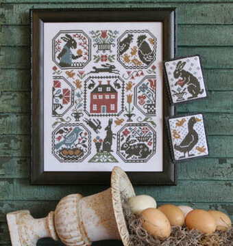 Rabbit Run - Cross Stitch Pattern